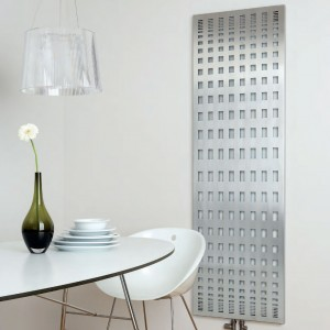 "Aeon ""Rende"" Designer Brushed & Polished Stainless Steel Radiator (3 Sizes)"