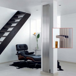 "Aeon ""Lunar"" Designer Brushed Stainless Steel Radiator (3 Sizes)"