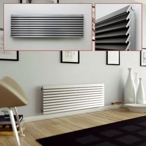 """Aeon """"Panacea"""" Designer Brushed Stainless Steel Radiator (12 Sizes)"""