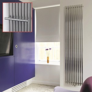 "Aeon ""Imza"" Designer Brushed Stainless Steel Radiator (4 Sizes)"