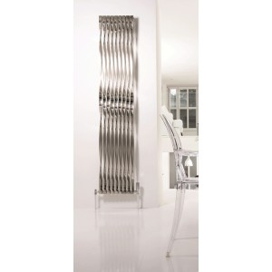 "Aeon ""Twister"" Designer Brushed & Polished Stainless Steel Radiator (9 Sizes)"