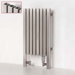 "Aeon ""Dalya L"" Designer Brushed & Polished Stainless Steel Radiator (9 Sizes)"
