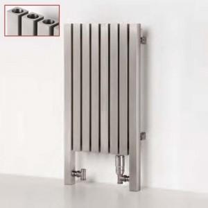 "Aeon ""Dalya L"" Designer Brushed & Polished Stainless Steel Radiator (9 Sizes)"