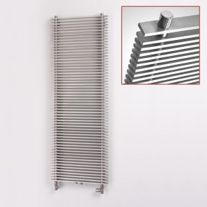 "Aeon ""Pegasus"" Designer Brushed Stainless Steel Radiator (3 Sizes)"