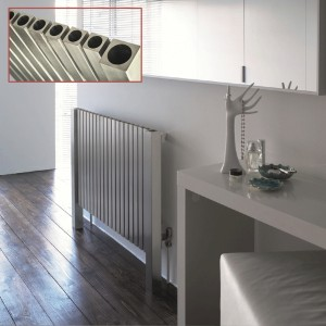 "Aeon ""Marion"" Designer Brushed & Polished Stainless Steel Radiator (3 Sizes)"