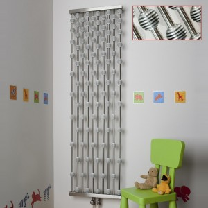 "Aeon ""Abacus"" Designer Brushed Stainless Steel Radiator (2 Sizes)"