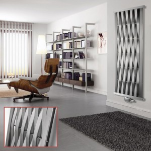 "Aeon ""Wave"" Designer Brushed Stainless Steel Radiator (4 Sizes)"
