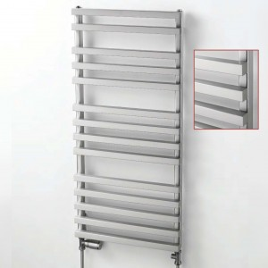 "Aeon ""Cengiz"" Designer Brushed Stainless Steel Towel Rails (3 Sizes)"