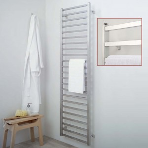"Aeon ""Karnak"" Designer Brushed & Polished Stainless Steel Towel Rails (3 Sizes)"