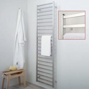 "Aeon ""Karnak"" Designer Brushed & Polished Stainless Steel Towel Rails (3 Sizes)"