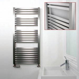 "Aeon ""Serif"" Designer Brushed Stainless Steel Towel Rails (3 Sizes)"