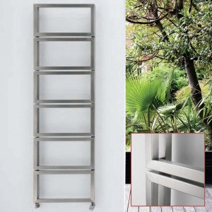 "Aeon ""Fatih"" Designer Brushed Stainless Steel Towel Rails (3 Sizes)"