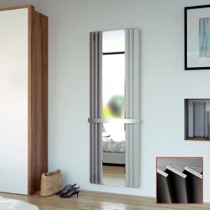 "Aeon ""Panacea"" Designer Brushed Stainless Steel Mirror Radiator"