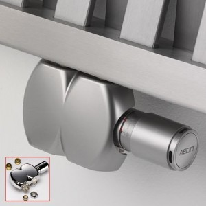 Interaxial Swivel TRV Valve (Brushed Stainless or Sparkling Chrome Finish)