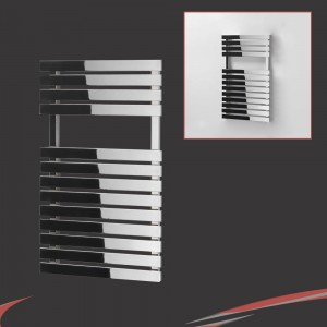 "500mm (w) x 788mm (h) ""Solar"" Chrome Designer Towel Rail"