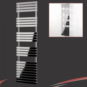 "500mm (w) x 1742mm (h) ""Solar"" Chrome Designer Towel Rail"