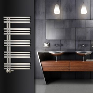 "Aeon ""Tempest"" Designer Brushed Stainless Steel Towel Rails (3 Sizes)"