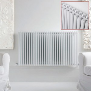 "Ultraheat ""Klon"" Designer White D-Profile Double Horizontal Radiators (12 Sizes)"