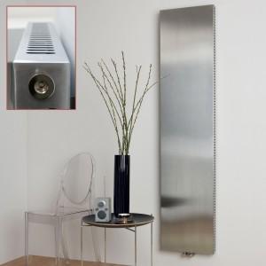 "Ultraheat ""Sovran"" Vertical Brushed Stainless Steel Radiator (Single)"