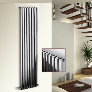 "Ultraheat ""Klon"" Designer Chrome Vertical Radiators (7 Sizes)"