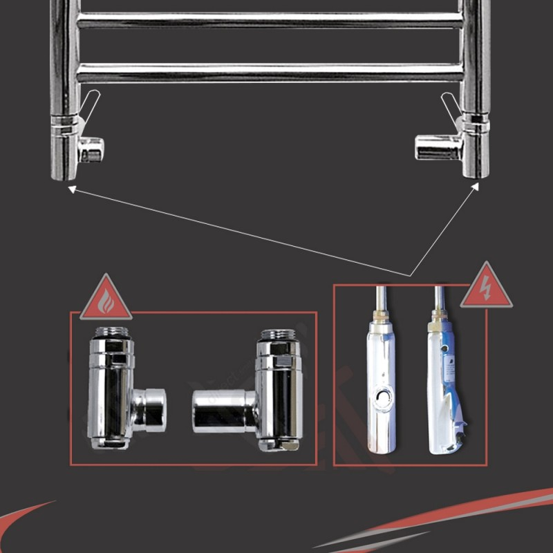 Dual Fuel Valve Kit (600 Watt RICA Chrome Thermostatic Element)