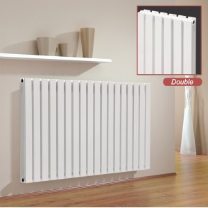 "Ultraheat ""Linear"" White Double Flat Panel Horizontal Radiators (13 Sizes)"