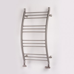 "Aeon ""Capadoccia"" 500mm(w) x 900mm(h) Designer Brushed Stainless Steel Towel Rails"