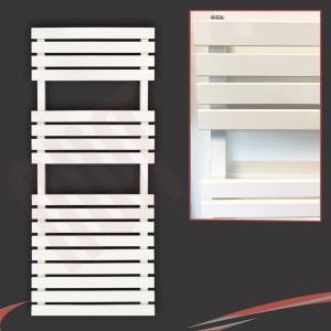 "500mm (w) x 1106mm (h) ""Solar"" White Designer Towel Rail"