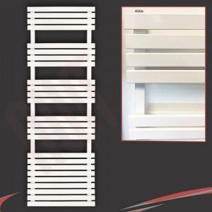 "500mm (w) x 1742mm (h) ""Solar"" White Designer Towel Rail"