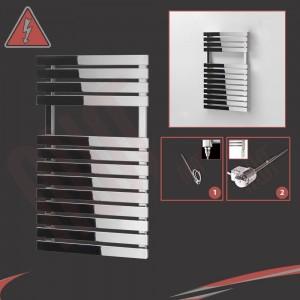 "500mm (w) x 788mm (h) Electric ""Solar"" Chrome Designer Towel Rail (Single Heat or Thermostatic Option)"
