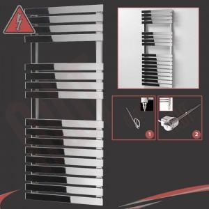 "500mm (w) x 1106mm (h)  Electric ""Solar"" Chrome Designer Towel Rail (Single Heat or Thermostatic Option)"