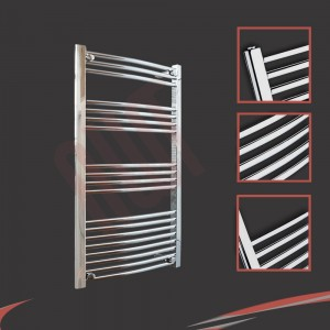 "600mm (w) x 1000mm (h) ""Curved Chrome"" Towel Rail"