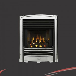 "Valor ""Petrus"" Chrome Slimline Inset Homeflame LFE High Efficiency Slide Controll"