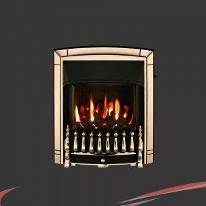 "Valor ""Dream"" Pale Gold Slimline Inset Homeflame Gas Fire"