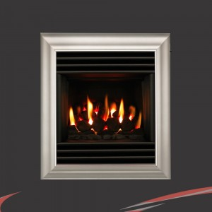 """Valor """"Harmony"""" Silver Wall / Inset Homeflame Gas Fire"""
