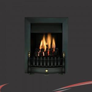 """Valor """"Blenheim"""" Black Slimline Inset Homeflame Gas Fire"""