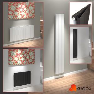 "Kudox ""AluLite"" Vertical & Horizontal Aluminium Designer Radiators (3 Sizes - White & Black)"
