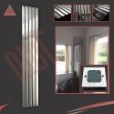 Corwen Chrome Electric Vertical Radiators (6 Sizes - Single Heat or Thermostatic Option)