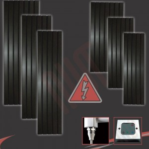 Corwen Black Electric Vertical Radiators (6 Sizes - Single Heat or Thermostatic Option)
