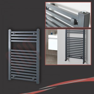 "500mm (w) x 800mm (h) ""Atlas"" Anthracite Designer Towel Rail"