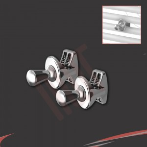 Chrome I Robe Hook (Pair)