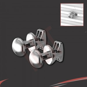 Chrome O Robe Hook (Pair)