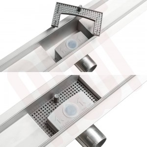 """Design 12 - Stainless Steel """"Rectangular"""" Wetroom Drainage System - 5 Sizes (600mm to 1500mm)"""