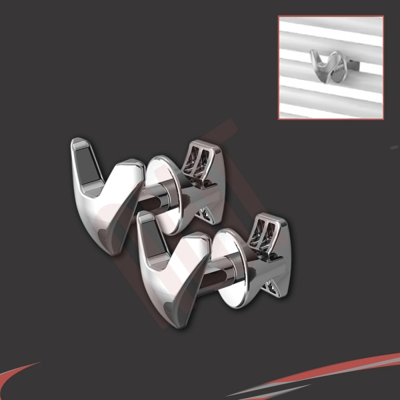 Chrome V Robe Hook (Pair)