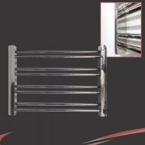 "Aeon ""Petit"" Designer Polished Stainless Steel Towel Rail"