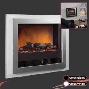 "Dimplex 2.0KW Wall Mounted ""Bizet"" Black/White Electric Fire"