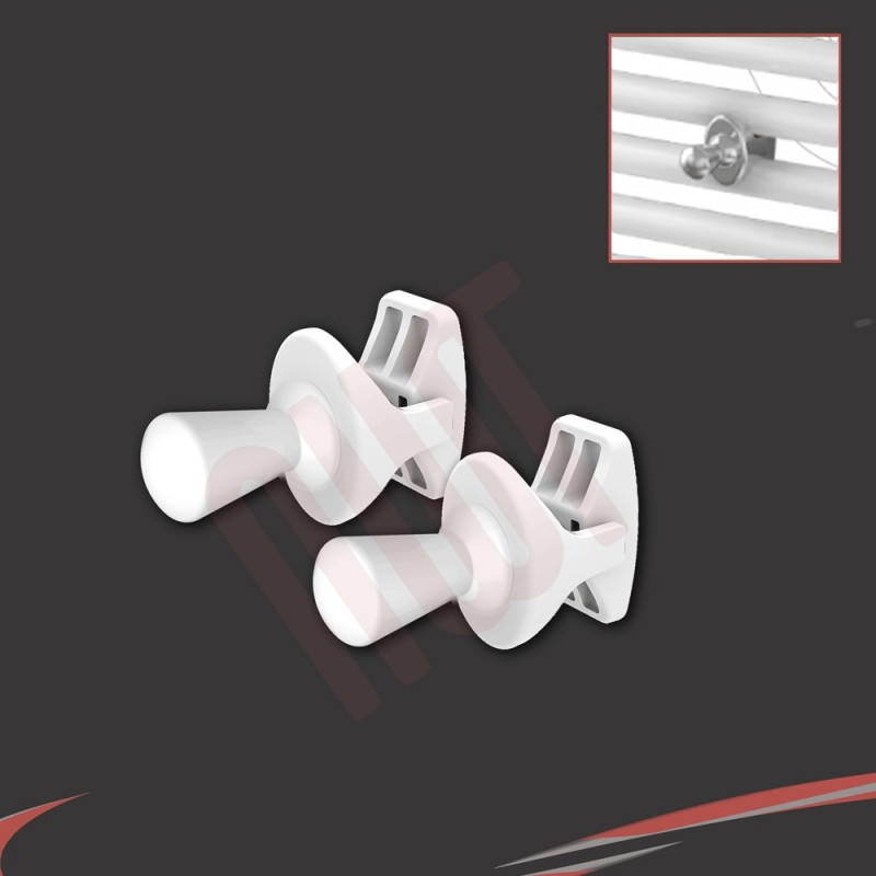 White I Robe Hook (Pair)