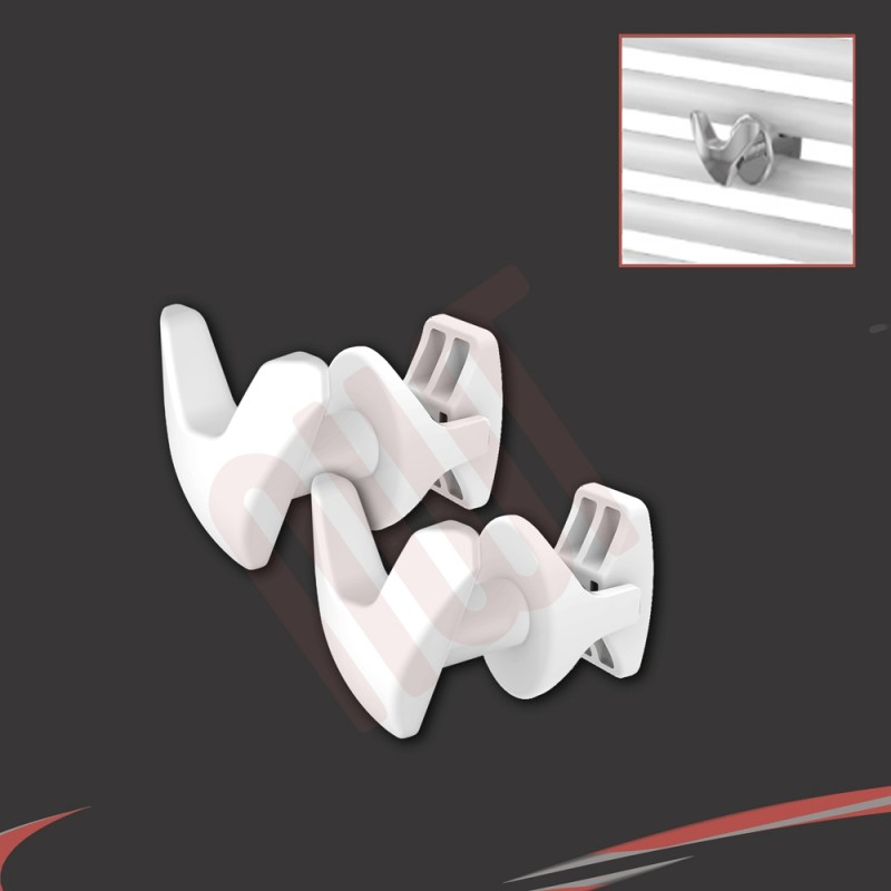 White V Robe Hook (Pair)