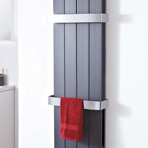 "Chrome Towel Bar for Double Panel ""Wave and Flow""Aluminium Radiators"