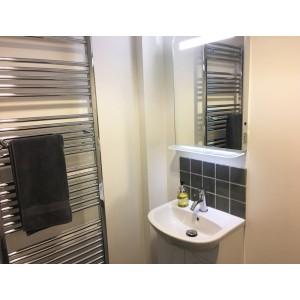 Chrome Straight Towel Bar 550mm